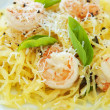 Spaghetti Squash & Shrimp — Stock Photo