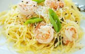 Spaghetti Squash & Shrimp — Stock Photo
