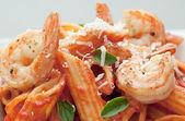 Pasta with Shrimp — Stock Photo