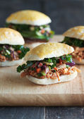 Gourmet Sliders — Stock Photo