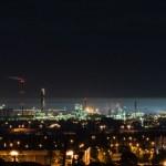 Industry iluminated at night — Stock Photo #12574817