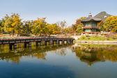 Pond pagoda — Stock Photo