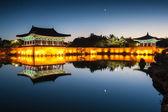 Anapji pond at dawn — Stock Photo