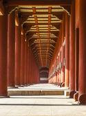 červená verandu úběžný bod — Stock fotografie