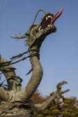 Čínský drak železná socha. rok draka — Stock fotografie