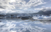 Fjallsarlon iceberg lake — Stock Photo