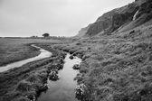 Black and white icelandic landscape — Stock Photo