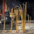 Stock Photo: Incense sticks burning at Taoist temple of Wong Tai Sin, Hong Kong.