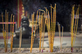 Incense sticks burning at a Taoist temple of Wong Tai Sin, Hong Kong. — Stock Photo