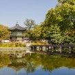 Korean temple, Emperors island in Gyeongbokgung palace. Seoul — Stock Photo #44479853