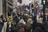 Crowded street — Stock Photo