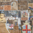 ZELL, GERMANY - JULY 18: Historic mosaic at a town-wall  on July - 
