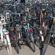 Bicycles parking in the Netherlands - Stockfoto