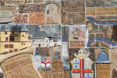 ZELL, GERMANY - JULY 18: Historic mosaic at a town-wall on July — Stock Photo