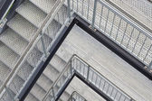 Steel staircase with multiple levels — Stock Photo