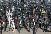 прокат велосипедов, парковка в нидерландах — Стоковое фото