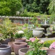 Stock Photo: Garden center with big stone flower pots
