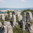 Panoramic view of sandstone rocks in cesky raj, czech republic — Stock Photo
