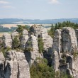 Panoramic view of sandstone rocks in cesky raj, czech republic - Stock Photo