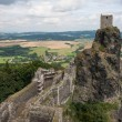 Aerial view of Medieval Trosky castle in Czech Republic - Stock Photo