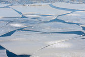 Frozen sea with big ice floes — Stock Photo