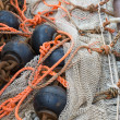 Stock Photo: Fishing nets with chains and ropes