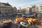 GRONINGEN - NOVEMBER 17: Central plaza 'Grote Markt' with market — Stock Photo