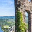 Ruins of Grevenburg castle above Traben-Trarbach, German Mosel v — Stock Photo