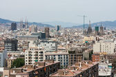 Aerial view of Barcelona, Spain — Stockfoto