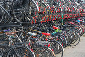 Bicycle shelter in a Dutch city — Stock Photo