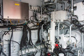 Engine room with pneumatic systems — Stock Photo