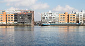 New residential area from Amsterdam along the harbor — Stock Photo