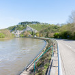 Embankment of the River Meuse near the Belgian City of Dinant — Stock Photo #23301332