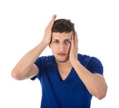 Man with hands on head made a mistake — Stock Photo