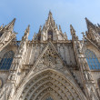 Front view of Barcelona Cathedral — Stock Photo