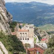 Aerial view of Montserrat monastery in Spain — Stock Photo #25879161