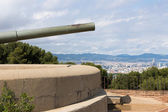 Castle of Montjuic with old canon in Barcelona — Stock Photo
