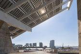 Big solar panel near city Barcelona, Spain — Stock Photo