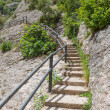 Stairs in the mountains near Montserrat, Spain — Stock Photo