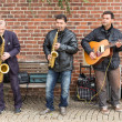 Street musicians in Bremen city — 图库照片