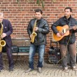 Street musicians in Bremen city — Stock fotografie