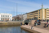 Goteborg: view of Gustof Adolf's square in city center — Stock Photo