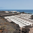 Salt pans of Fuencaliente at La Palma, Canary islands, Spain — Stock Photo