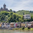 cochem with castle along river moselle in germany — Stock Photo