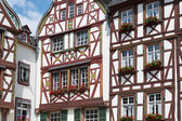 Half-timber houses of Bernkastel-Kues near the river Moselle in Germany — Stock Photo