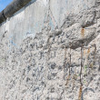 Remains of Berlin Wall separation the German city in East and West parts — Stock Photo