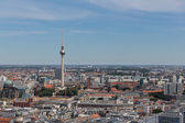 Aerial cityscape with television tower of Berlin, Germany — Stock Photo