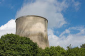 Big cooling-tower of a power plant producing electricity — Stock Photo