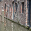 Historic canal houses in medieval city Utrecht of the Netherlands — Stock Photo