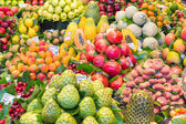 Fresh fruits at a market of Barcelona — Foto Stock